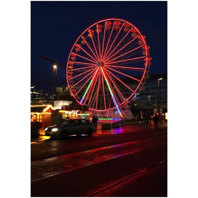 red round hopefully resisting the storm today ferriswheel leipzig leipzigartighellip